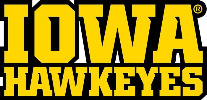 University Of Iowa Wordmark Iowa Hawkeyes