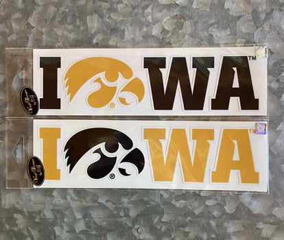 Iowa with tigerhawk logo vinyl decal
