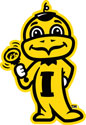 Iowa Baby Herky with Rattle 1, Vinyl Decal