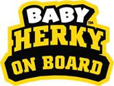 Iowa Baby Herky On Board, Vinyl Decal