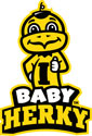Iowa Baby Herky Thumbs Up 2, Vinyl Decal