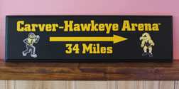 Carver-Hawkeye Arena Personalized Sign, Primitive Wood Signs