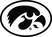 Iowa Hawkeyes Oval Tigerhawk Logo 2, Vinyl Decal