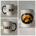 Iowa Dad Tigerhawk Oval  Ceramic Mug