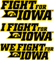 Fight For Iowa, Hawkeye Vinyl Decal