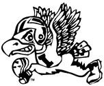 University of Iowa Old School Flying Football Herky Mascot