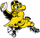 University of Iowa Old School Football Herky Mascot Color