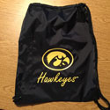 University of Iowa Cinch Bag Option 1
