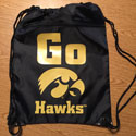 University of Iowa Cinch Bag Option 2