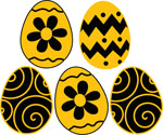 Hawkeye Colored Easter Egg Set, Vinyl Decal