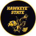 Hawkeye State, Old School Flying Herky, University of Iowa Decal