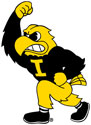 University of Iowa Herky Mascot, Removable and Reusable Vinyl Wall Decal
