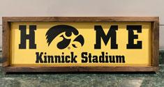 Home, Kinnick Stadium Custom Sign, Primitive Wood Signs