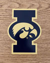 University of Iowa - I with Tigerhawk overlay look, Vinyl Decal