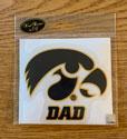 Iowa Dad, Tigerhawk Logo Vinyl Decal
