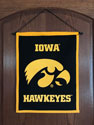 University of Iowa Hawkeye Wool Banner With Tigerhawk