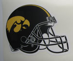 Iowa Hawkeye Football Helmet, Tigerhawk Logo Vinyl Decal