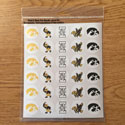 Iowa Hawkeye Variety Mini Set, Correspondence stickers