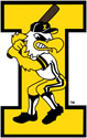 University of Iowa Vintage Baseball Herky, Vinyl Decal