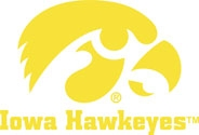 Iowa Hawkeyes with Tigerhawk Logo, Vinyl Car Decal
