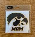 Iowa Mom with Tigerhawk Logo Vinyl Decal