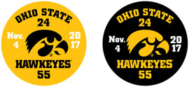 Iowa Hawkeye Victory Ohio State, Vehicle Decal