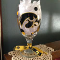 Tigerhawk Goblet, Iowa Hawkeye  Design