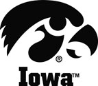 Iowa with Tigerhawk Logo, Vinyl Decal