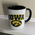 University of Iowa with Tigerhawk Ceramic Mug