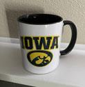 University of Iowa with Tigerhawk Ceramic Mug