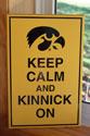 Kinnick Stadium Keep Calm, Primitive Wood Signs