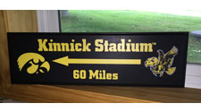 Kinnick Stadium Custom Sign, Primitive Wood Signs
