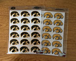Iowa Tigerhawk  Mini Decal set 5, Correspondence Stickers