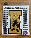 University of Iowa NCAA National Champions Wrestling, Vinyl Decal