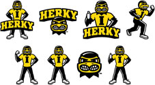 University of Iowa New Herky Collection, Mini Set of 8