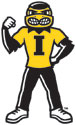 University of Iowa Herky Fist Up Vinyl Car Decal