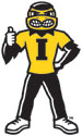University of Iowa Herky Thumbs Up, Vinyl Car Decal