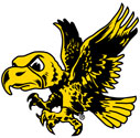University of Iowa Old School Flying Herky Mascot Color