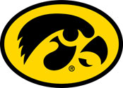Iowa Hawkeyes Oval Tigerhawk Logo, Vinyl Decal
