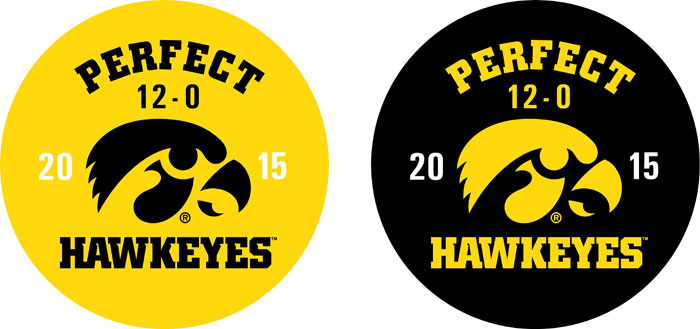 Iowa Hawkeye Football Perfect Season, Vehicle Decal