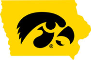State of Iowa Tigerhawk Logo Vinyl Car Decal