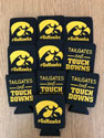 Tailgate and Touchdown Iowa Hawkeye Can Koozie