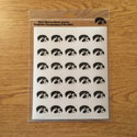 Iowa Tigerhawk  Mini Decal set 3