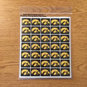 Iowa Tigerhawk  Mini Decal set 6, Correspondence Stickers
