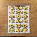 Iowa Tigerhawk  Mini Decal set 5