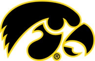 Iowa Hawkeyes Tigerhawk Multicolored Logo