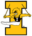 University of Iowa Vintage Gymnastics Herky, Vinyl Decal