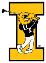 University of Iowa Vintage Herky Golf, Vinyl Decal