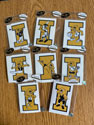 University of Iowa Vintage Herky Mini Vinyl Decal Set