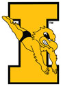 University of Iowa Vintage Swim Dive Herky, Vinyl Decal